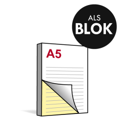 A5 Doordrukblok 2voudig 148x210 mm