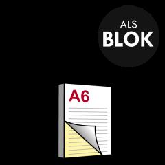 A6 Doordrukblok 2voudig 105x148 mm
