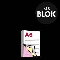 A6 Doordrukblok 3voudig 105x148 mm