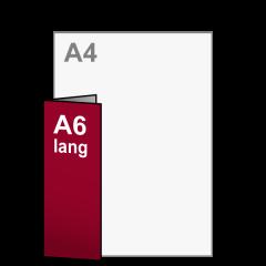Folder A5 naar A6 lang