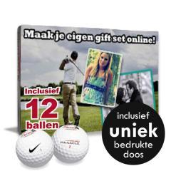 12 Golfballen Giftset incl. uniek bedrukte doos