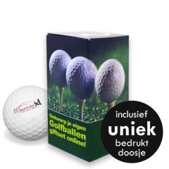Golfballen Giftset - 2 ballen inclusief doosje