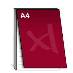 A4 Notitieblok met dekblad 210x297 mm