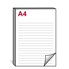 A4 Notitieblok - staand - 210x297 mm