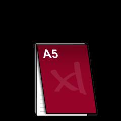 A5 Notitieblok met dekblad 148x210 mm