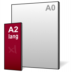 A2-lang Reclamebord 297x840mm