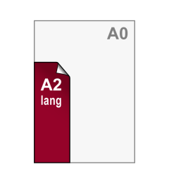 A2 lang Stickers 297x840 mm
