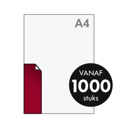 A7 lang Stickers drukken 52x148 mm