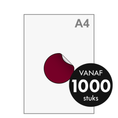 Sticker drukken - Rond middel ø98 mm