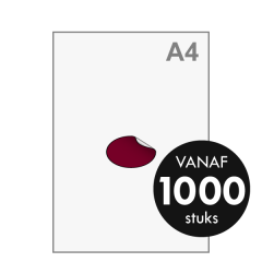 Sticker drukken - Ovaal middel 70x48 mm