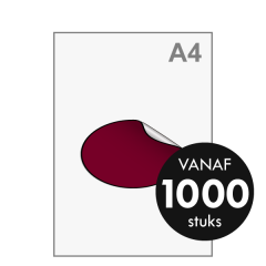 Sticker drukken - Ovaal groot 145x95 mm