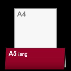 Uitnodiging A4 naar A5 lang liggend