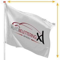 Vlag op maat - mastvlag liggend